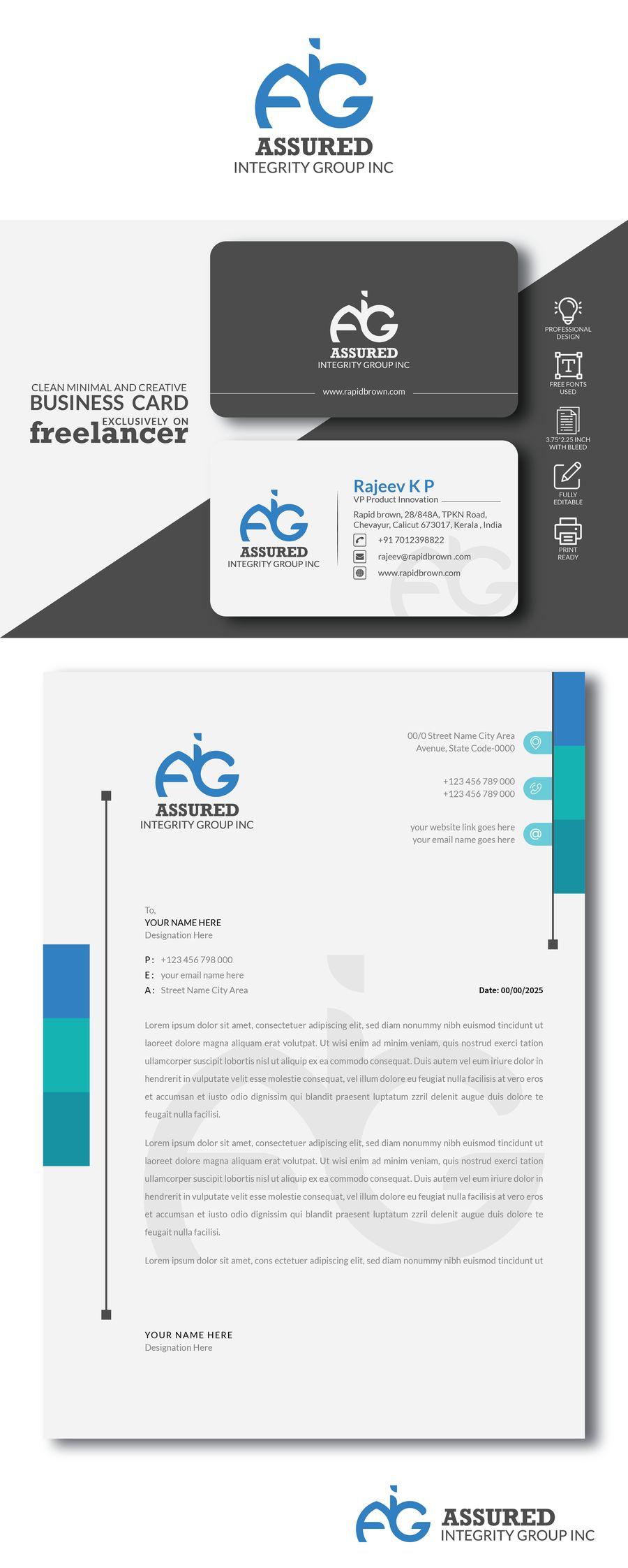 Corporate branding for Assured Integrity, Edmonton