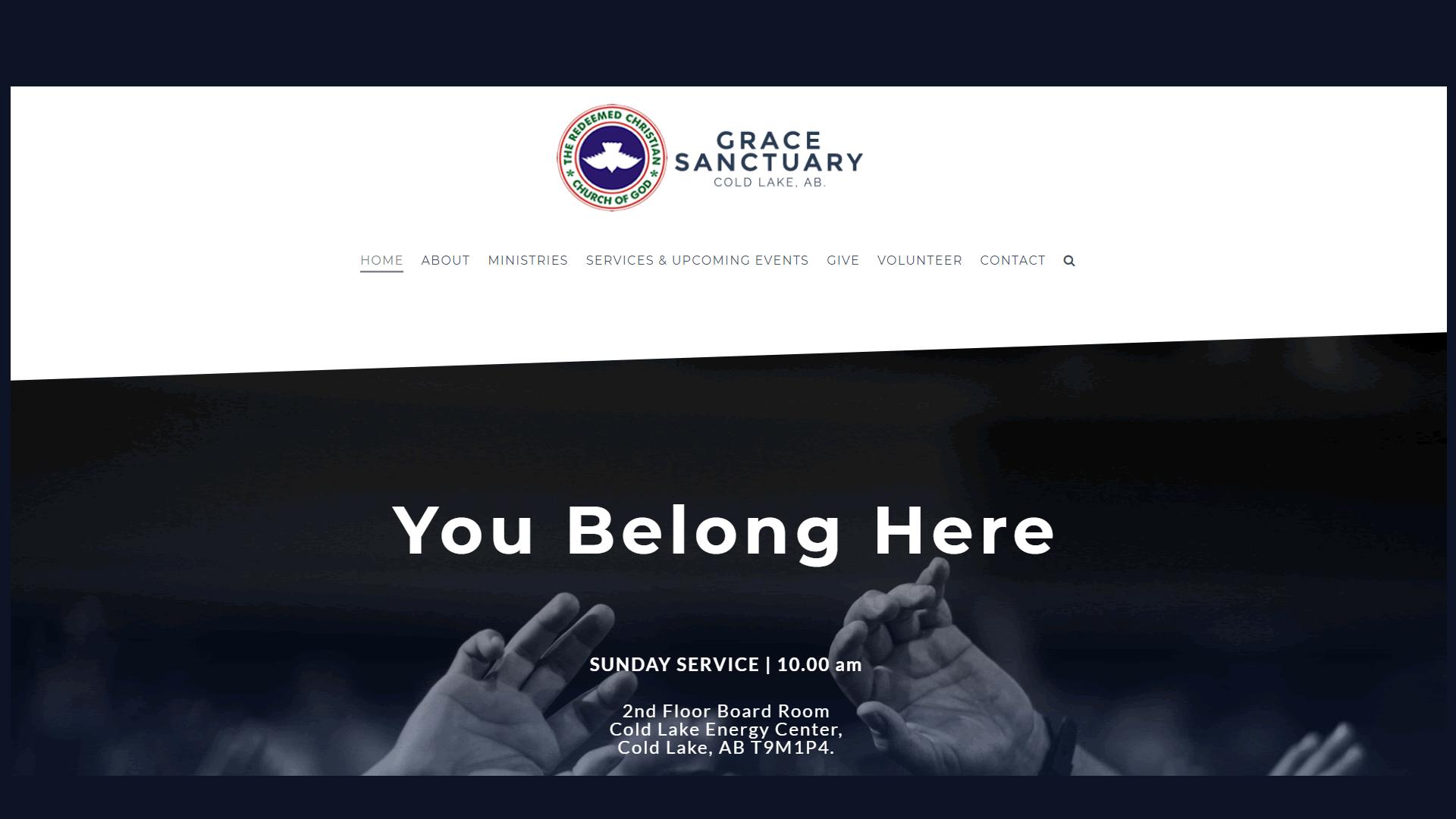 Website Project for Grace Sanctuary RCCG